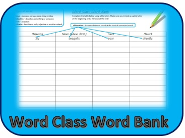 Word Class Word Bank1