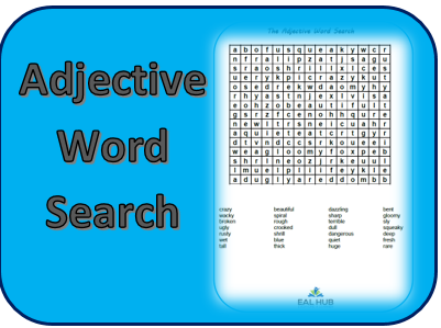 Adjective wordsearch