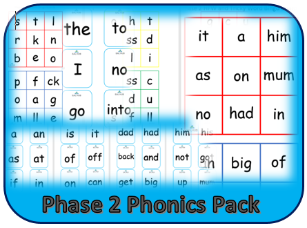 Phase 2 phonics pack