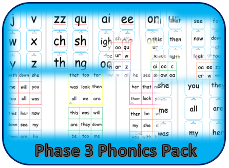 Phase 3 Phonics Pack