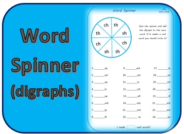 word spinner digraph